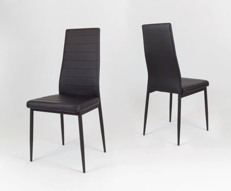 SK Design KS001 Black Synthetic Leather Chairon a Painted Frame