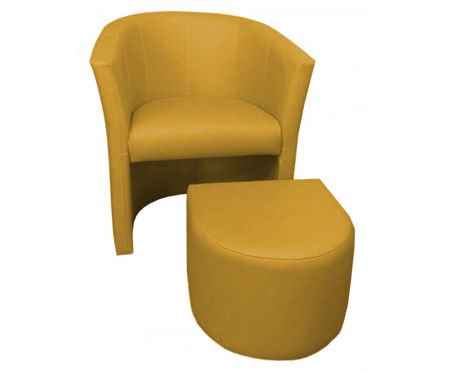 Yellow CAMPARI armchair with footrest
