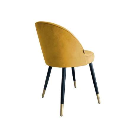 Yellow upholstered CENTAUR chair material MG-15 with golden leg