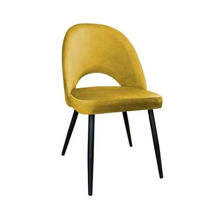Yellow upholstered LUNA chair material MG-15