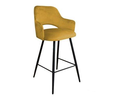 Yellow upholstered STAR hoker material MG-15