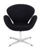 Black cashmere Cup armchair 1