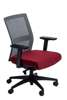 Gray / red Press office chair