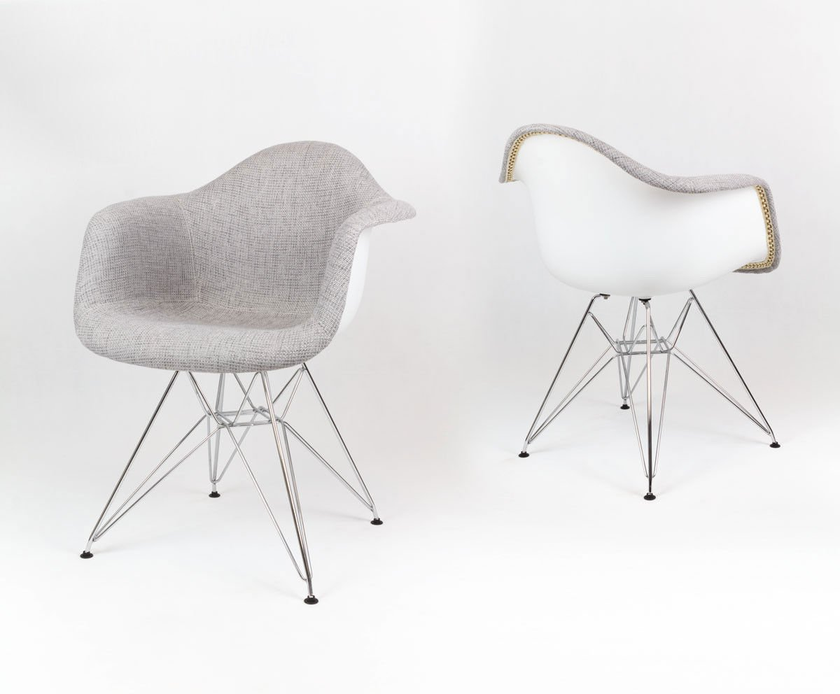 sk design kr012f tbsz grau polster sessel chrom tbsz. Black Bedroom Furniture Sets. Home Design Ideas
