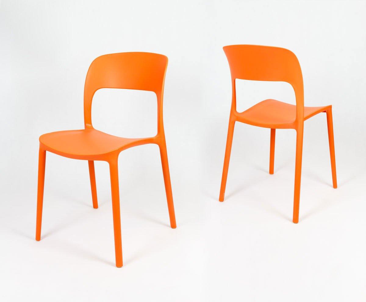 SK DESIGN KR022 ORANGE STUHL AUS POLYPROPYLEN Orange | ANGEBOT ...