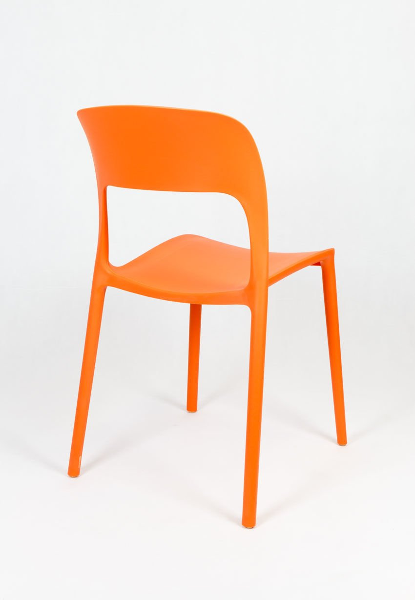 Sk design kr022 orange stuhl aus polypropylen orange for Design stuhl hersteller