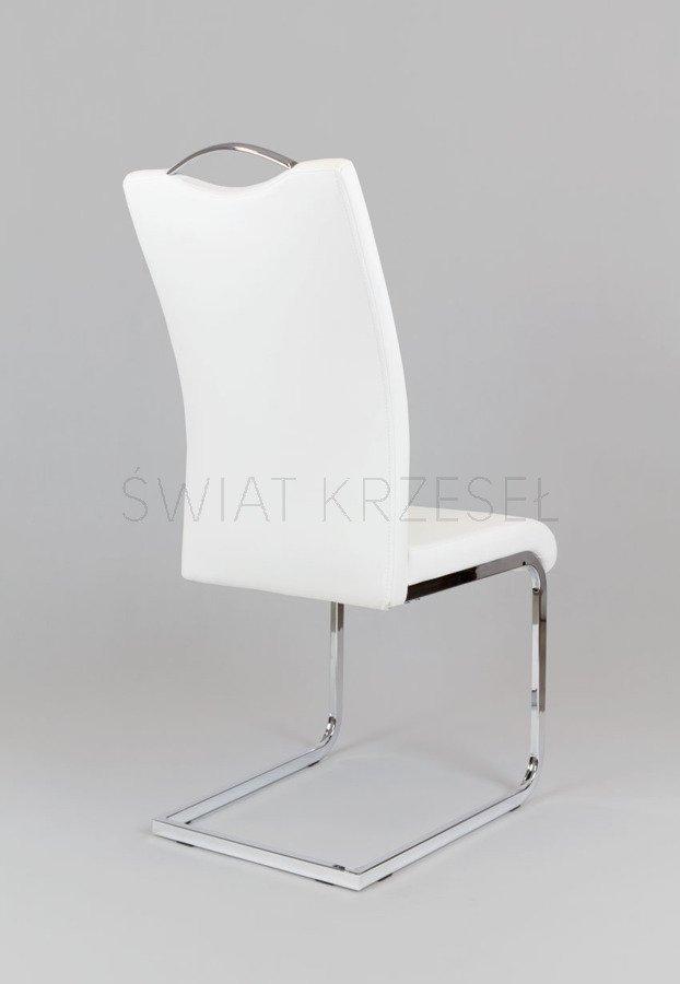 sk design ks003 weiss kunsleder stuhl mit chromgestell. Black Bedroom Furniture Sets. Home Design Ideas