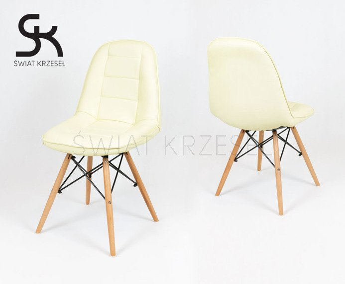 sk design ks009 creme kunsleder stuhl mit holzbeine sahnig angebot sonderangebote angebot. Black Bedroom Furniture Sets. Home Design Ideas