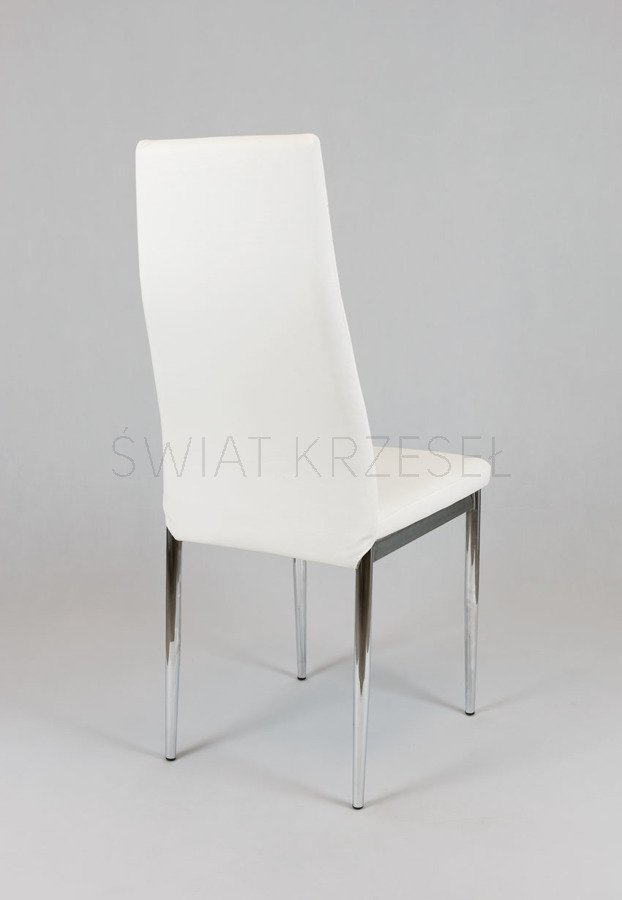 sk design ks023 weiss kunsleder stuhl mit chromgestell weiss angebot sonderangebote angebot. Black Bedroom Furniture Sets. Home Design Ideas