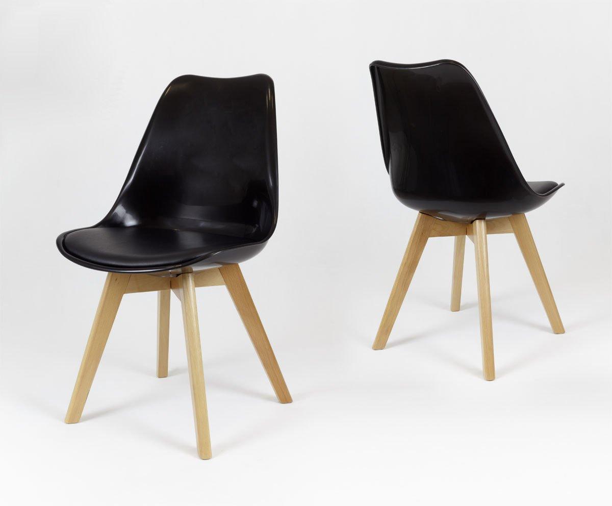 Sk Design Kr020 Schwarz Stuhl Mit Polypropylen Und Kissen Schwarz Sonderangebote Angebot Stuhlen Salon Esszimmer Kuche Stuhle Fur Das Wohnzimmer Salon Esszimmer Kuche Stuhle
