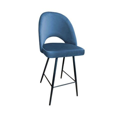 Blau gepolsterter Stuhl LUNA Material MG-33
