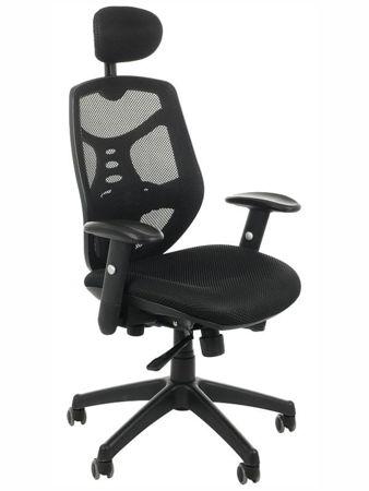 Fotel biurowy gabinetowy TIMOR czarny - krzesło obrotowe