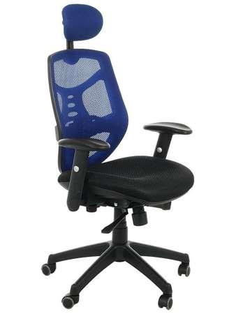 Fotel biurowy gabinetowy TIMOR niebieski - krzesło obrotowe