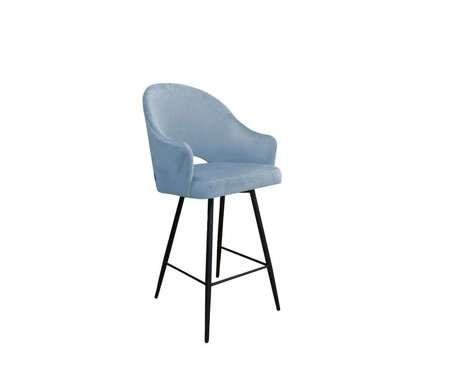 Grau blau gepolsterter Sessel DIUNA Sessel Material BL-06