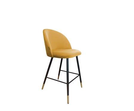 KALIPSO bar stool yellow mustard material MG-15 mit goldenen Beinen