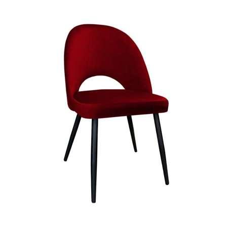 Rot gepolsterter Stuhl LUNA Material MG-31