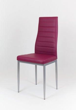 SK Design KS001 Purple Kunsleder Stuhl auf einem lackierten Rahmen
