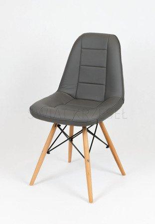 SK DESIGN KS009 DUNKELGRAU Kunsleder Stuhl mit Holzbeine
