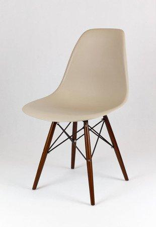SK Design KR012 Beige Stuhl Wenge
