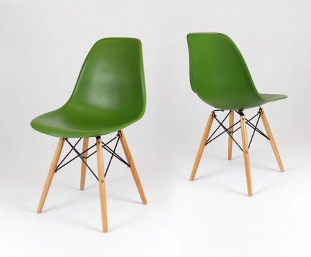 SK Design KR012 Dunkelgrun Stuhl Buche