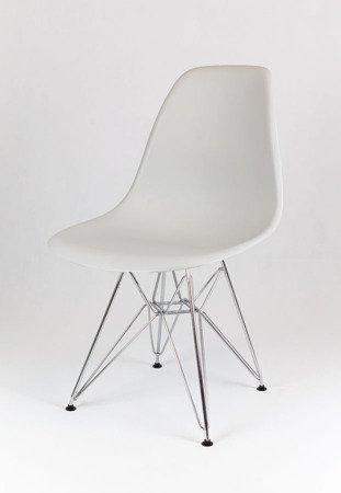SK Design KR012 Hellgrau Stuhl Chrom