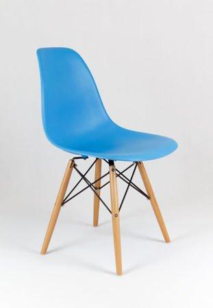 SK Design KR012 Ocean Blau Stuhl, Buche
