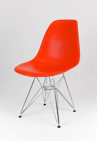 SK Design KR012 Orange Stuhl Chrom