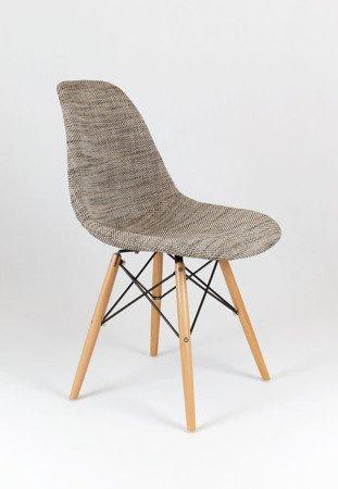 SK Design KR012 Polster Stuhl Lawa02, Buche Beine