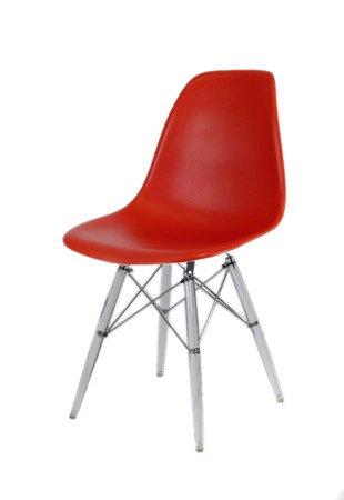 SK Design KR012 Ziegelrot Stuhl Clear