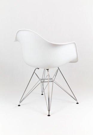 SK Design KR012F Weiss Sessel, Chrom
