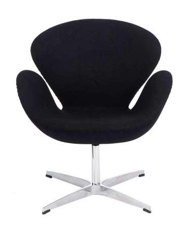 Schwarzer Cashmere Cup Sessel 1
