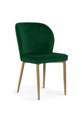 Stuhl AINE grün / Bein Eiche / BL78