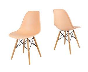 SK Design KR012 Brzoskwiniowe Krzesło - Nogi Buk