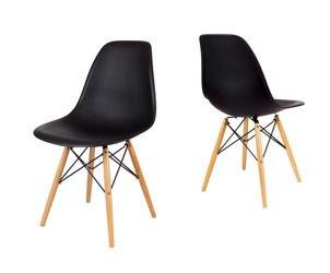SK Design KR012 Czarne Krzesło, Nogi buk