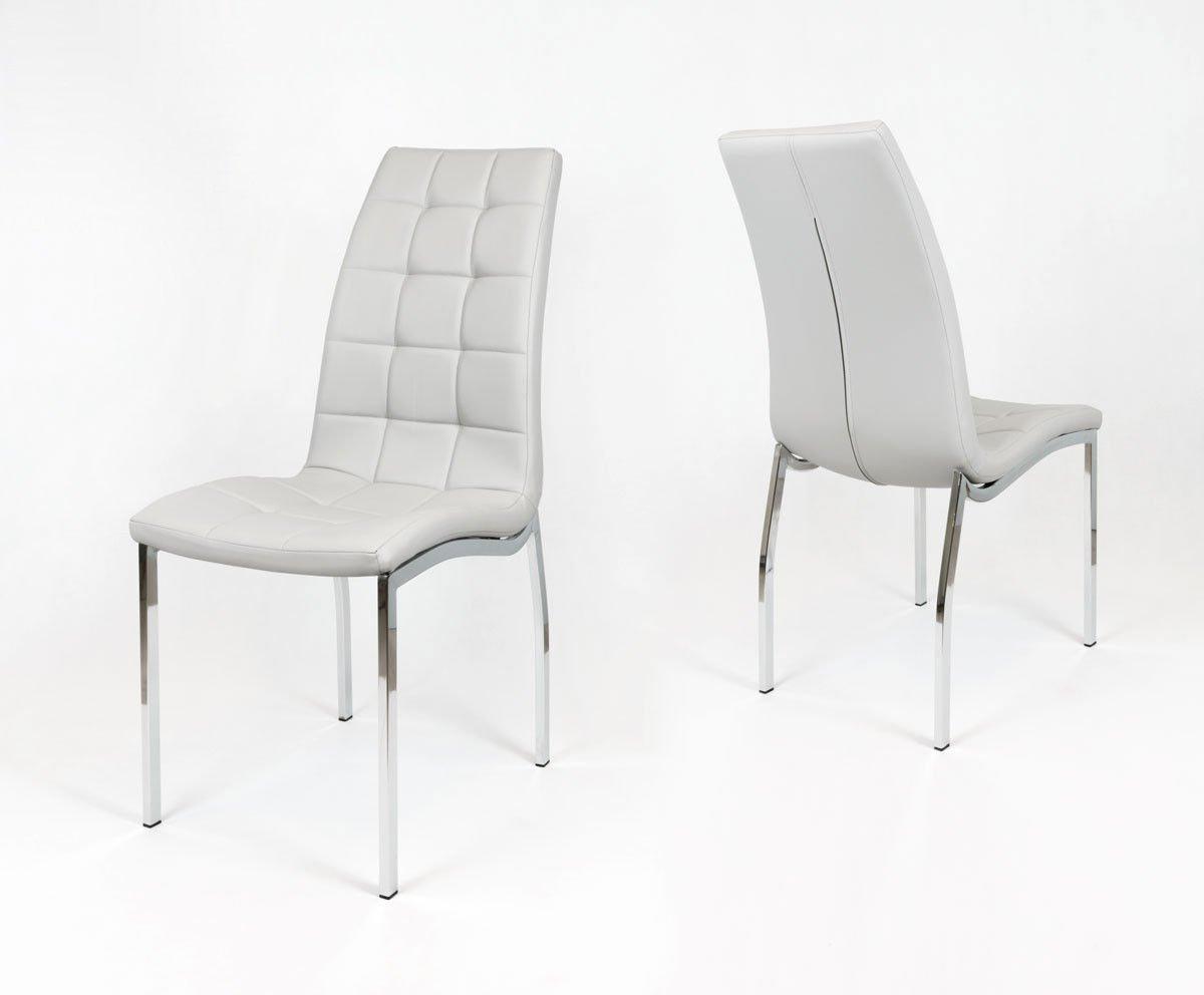 Niewiarygodnie SK Design KS002 Jasnoszare Pikowane Krzesło Jasnoszary | Oferta BU52