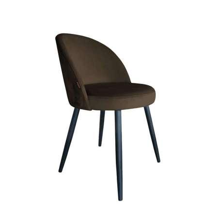 Brązowe tapicerowane krzesło CENTAUR materiał MG-05