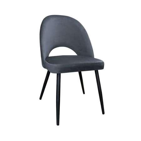 Ciemnoszare tapicerowane krzesło LUNA materiał BL-14