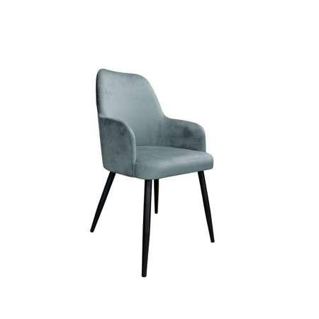 Ciemnoszare tapicerowane krzesło PEGAZ materiał BL-14