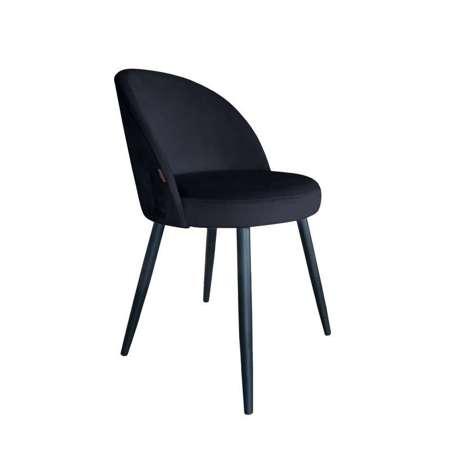 Czarne tapicerowane krzesło CENTAUR materiał MG-19