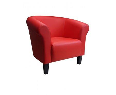 DZIECIĘCY Fotel MALIBU czerwony