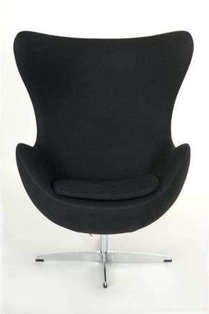 Fotel Jajo czarny kaszmir 1 Premium