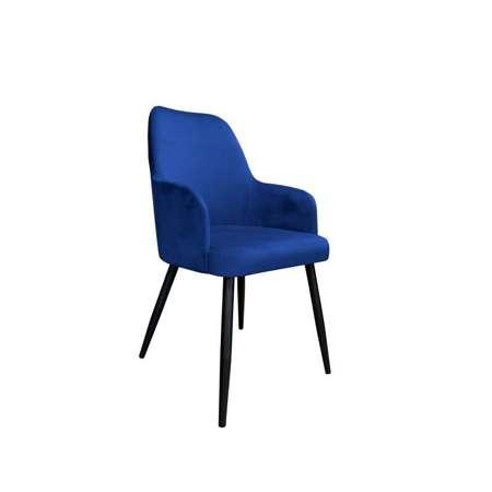 Granatowe tapicerowane krzesło PEGAZ materiał MG-16