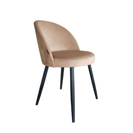 Jasnobrązowe tapicerowane krzesło CENTAUR materiał MG-06