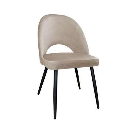 Jasnobrązowe tapicerowane krzesło LUNA materiał MG-06