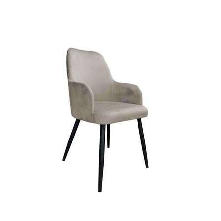 Jasnobrązowe tapicerowane krzesło PEGAZ materiał MG-09