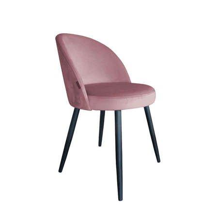 Koralowe tapicerowane krzesło CENTAUR materiał MG-58