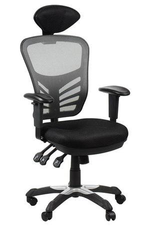 Krzesło Fotel biurowy gabinetowy obrotowy Cypr - szary