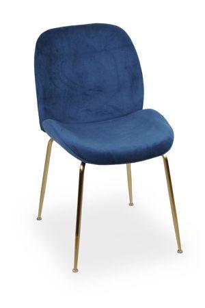 Krzesło JOY velvet granatowy/ noga złota