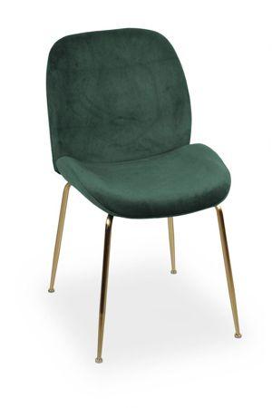 Krzesło JOY velvet zielony/ noga złota
