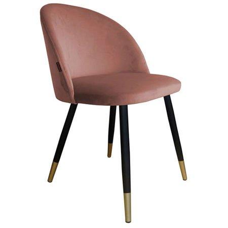 Krzesło KALIPSO koralowe materiał MG-58 ze złotą nóżką